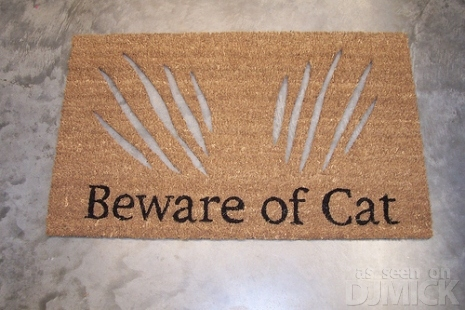 Beware Of Cat Doormat E Forwards Com Funny Emails